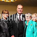 Photo by Tony Powell. Christine Robert, Gen. Jim Jones, Aimee and Cindy Robert. Fight Night. Hilton Hotel. November 11, 2010