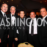 Photo by Tony Powell. Ernie Grunfeld, Jack Davies, Richard Kay, Raul Fernandez, Flip Saunders. Fight Night. Hilton Hotel. November 11, 2010
