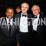 Photo by Tony Powell. Kwame Brown, George Vradenburg, Howard Fineman. Fight Night. Hilton Hotel. November 11, 2010