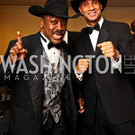 Photo by Tony Powell. Boxer Joe Frazier, Mayor Adrian Fenty. Fight Night. Hilton Hotel. November 11, 2010