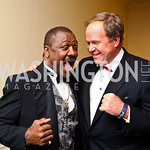 Photo by Tony Powell. Boxer Joe Frazier, Joe Reeder. Fight Night. Hilton Hotel. November 11, 2010