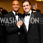 Photo by Tony Powell. Mayor Adrian Fenty, The Apprentice's Stuart Martens. Fight Night. Hilton Hotel. November 11, 2010