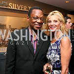 "Photo by Tony Powell. Panel Moderator Alvin Hall, Alessandra Gelmi. Opening Night of SilverDocs: ""Freakonomics"". June 21, 2010"