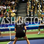 Photo by Tony Powell. Martina Navratilova, Steffi Graf, Sir Elton John. WTT VIP Reception with Elton John. Bender Arena. November 15, 2010