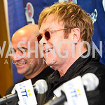 Photo by Tony Powell. Andre Agassi, Sir Elton John. WTT VIP Reception with Elton John. Bender Arena. November 15, 2010