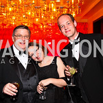 Larry Shaughnessy, Carrie Port, Brian Rokus. CNN Congressional Correspondent's Dinner After Party. Photo by Tony Powell. Lincoln. March 30, 2011