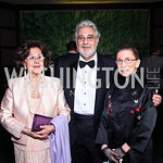 Marta and Placido Domingo, Justice Ruth Bader Ginsburg. Photo by Tony Powell. Opera Ball. Embassy of China. May 7, 2011