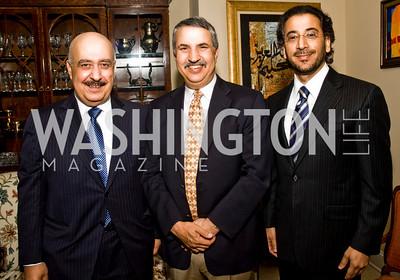 Fahad bin Abdullah bin Muhammad Al-Saud, Thomas Friedman, Abdulwahab A Al-Hajjri (Photo by Betsy Spruill Clarke)