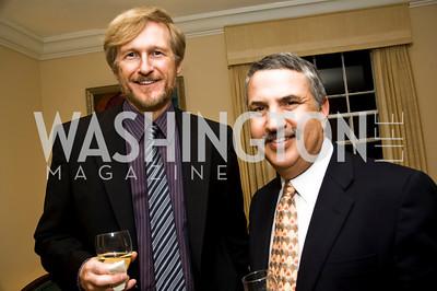 Tom Toles, Thomas Friedman (Photo by Betsy Spruill Clarke)