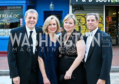 Photo by Tony Powell. Ford's Theatre Gala. June 6, 2010. Congressman John and Betty Ann Tanner, Elin and Joe Augustus