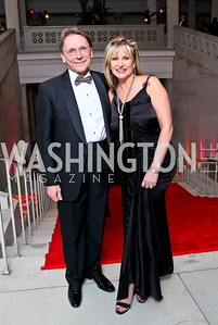 Paul Frazer and Dr. Tina Alster. Photo by Tony Powell. 55th Annual Corcoran Ball. April 16, 2010