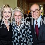 Photo by Tony Powell. Andrea Mitchell, Jane Harman, Dr. Alan Greenspan. George Stevens Brunch. Mandarin Oriental. December 5, 2010