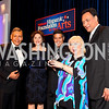 Photo by Tony Powell. Felix Sanchez, Merel Julia, Esai Morales, Cristina Saralegui, Jimmy Smits. Noche de Gala 2010. Mayflower Hotel. September 14, 2010