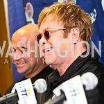 Photo by Tony Powell. Andre Agassi, Sir Elton John. WTT VIP Reception with Elton John. Bender Arena. November 15, 2010
