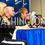 Photo by Tony Powell. Anna Kournikova, Andre Agassi, Sir Elton John, Steffi Graf, Jan-Michael Gambill. WTT VIP Reception with Elton John. Bender Arena. November 15, 2010