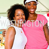 Photo by Tony Powell. FedEx Corporate Vice President for Government Affairs Gina Adams, Venus Williams. Kastles VIP Reception. Kastles Stadium. July 7, 2010