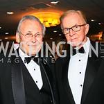 Donald Rumsfeld, John McLaughlin. Photo by Tony Powell. WHCAD pre-parties. Hilton Hotel. May 1, 2010