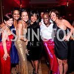 Carrie Kohns, Chinyere Hubbard, April Richmond, Charlotte Reid, Ailey dancer Hope Boykin, Kathy Hollinger. Alvin Ailey Gala. February 7, 2012. Photo by Tony Powell