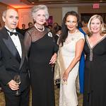 Alexander Mark, Countess Tolstoy, Rhoda Septilici, Linda White. Mentor Foundation USA International Gala. Photo by Alfredo Flores. Four Seasons Hotel. September 20, 2012