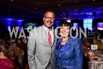 Dwight and Toni Bush. Teach for America Gala. Ritz Carlton. Photo by Tony Powell. May 9, 2012