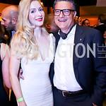 """Alexandra Senyi de Nagy-Unyom, Gino Galizia. Photo by Tony ...Walk this Way"""" Fashion Show. Italian Embassy. November 8, 2013"""