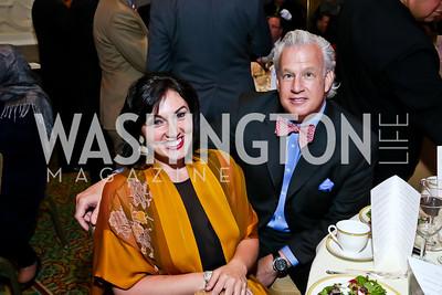 Mona Hamdy, Bruce Belliveau. Photo by Tony Powell. 4th Annual Climate Leadership Gala. Mayflower Hotel. May 22, 2013