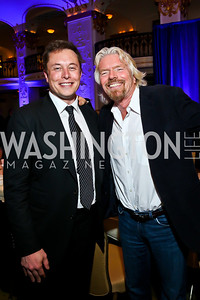 Elon Musk, Sir Richard Branson. Photo by Tony Powell. 4th Annual Climate Leadership Gala. Mayflower Hotel. May 22, 2013