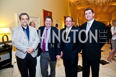 Doyle Rice, David Callaway, John Peters, Imre Eszenyi. Photo by Tony Powell. 4th Annual Climate Leadership Gala. Mayflower Hotel. May 22, 2013