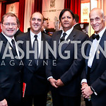 Grover Norquist, Reza Jahanbani, Ray Mahmood, Michael Chertoff. Photo by Tony Powell. 2013 Fight Night. Hilton Hotel. November 14, 2013