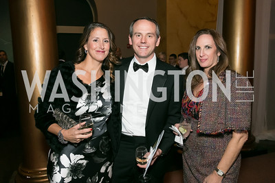 Teresa Byrne, Brian Byrne, Laurie Friedman. Photo by Alfredo Flores. The Lab School Awards Gala.  National Building Museum. November 14, 2013.