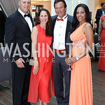 Brian Rodgers, Emily and JR Paterakis, Chartese Berry. Photo by Tony Powell. 2016 Ambassadors Ball. Marriott Marquis. September 13, 2016