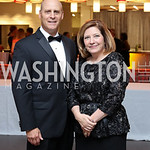 Co-Chairs Brian Rodgers and Jennifer Kildee. Photo by Tony Powell. 2016 Ambassadors Ball. Marriott Marquis. September 13, 2016