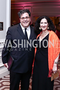 Alan Fleischmann, Dafna Tapiero. Photo by Tony Powell. 2016 Children's Ball. Ritz Carlton. April 15, 2016