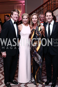 Henry and Lee Fonvielle, Andrea and Enrico Cecchi. Photo by Tony Powell. 2016 Children's Ball. Ritz Carlton. April 15, 2016
