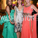 Devika Patil, Veronica Valencia, Kathy Kemper. Photo by Tony Powell. 2016 Opera Ball. OAS. May 21, 2016