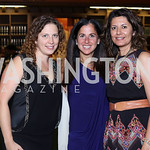 Sara Faulman, Molly Elkin, Aamra Ahmad. Photo by Tony Powell. 2016 Pen Faulkner Gala. September 26, 2016