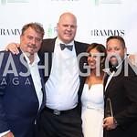 Robert Wiedmaier, Scott Drewno, Kathy Hollinger, Mike Isabella. Photo by Tony Powell. 2016 RAMMY Awards. Convention Center. June 12, 2016