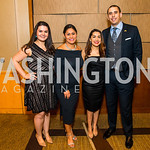 Yariamy Perez-Nieto, Elia Quintana, Rosa Mendoza, Daniel Davilo. Photo by Alfredo Flores. 20th Annual LULAC National Legislative Awards Gala. Grand Hyatt. February 15, 2017