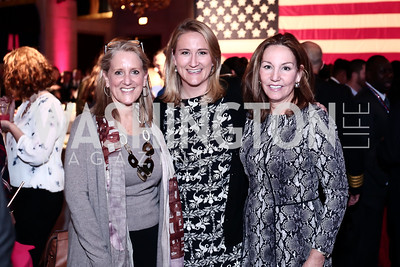 Diane Terpeluk, Meghan Ogilvie, Michele Seiver. Photo by Tony Powell. 6th Annual Blue Star Neighbors Gala. Chamber of Commerce. April 7, 2016