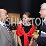 Saudi Arabia Amb. Abdullah Al Saud, Dr. Majda Ruge, Switzerland Amb. Martin Dahinden. Photo by Tony Powell. Ahmed Mater Art Opening. Freer Sackler. September 15, 2016