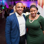 Dominic Hawkins, Symone Sanders. CNN Political Hangover. Photo by Joy Asico. Long View Gallery. May 1, 2016
