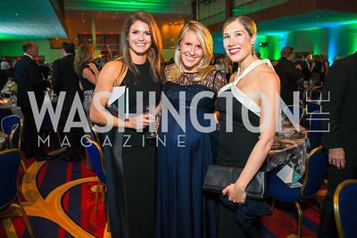 Megan Phillips, Cameron Ruppert, Cheryl Lynn-Boland. Photo by Alfredo Flores. Catholic Charities Gala 2016. Washington Marriott Wardman Park Hotel. April 30, 2016