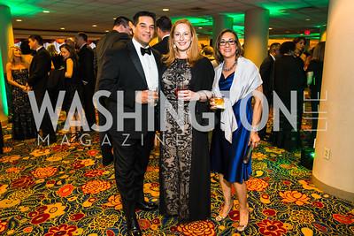 Art Gomez, Shannon Gomez, Beverly McKernie. Photo by Alfredo Flores. Catholic Charities Gala 2016. Washington Marriott Wardman Park Hotel. April 30, 2016