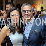 Eun Yang, Vice President Biden's Residence Manager and Social Secretary Carlos Elizondo. Photo by Tony Powell. Diplomacy by Design. Blair House. October 21, 2016