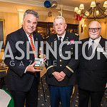 Rep. Peter King,  Lawrence Fedewa, Colonel James Tiernery, . Photo by Alfredo Flores. Fifth Annual Memorial Day Kick-Off and Tribute to Veterans and Veterans with Congress. Capitol Hill Club ...