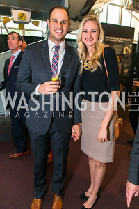 Richard Portwood, Berit Green. Photo by Alfredo Flores. Fifth Annual Symposium of The Carmel Institute — U.S., Russia and The International Space Station, Partners in Orbit. Smithsonian's National Air and Space Museum. April 19, 2016.