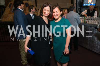 Jayne Cosson, Kelsi Schagunn. Photo by Alfredo Flores. Fifth Annual Symposium of The Carmel Institute — U.S., Russia and The International Space Station, Partners in Orbit. Smithsonian's National Air and Space Museum. April 19, 2016.