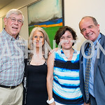 Joseph DiGangi, Barbara Hawthorn, Marta Franchetti, Italian Embassy Cultural Attaché Renato Miracco. Photo by Erin Schaff. Open House Featuring Artwork by Laura Gunn. Higher Logic. August 2 ...