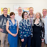 Hunter Montgomery, Heather Mcnair, Rob Wenger, Laura Gunn, Andy Steggles, Barbara Hawthorn, Mark Lowry. Photo by Erin Schaff. Open House Featuring Artwork by Laura Gunn. Higher Logic. August ...