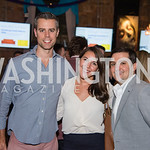 Rob Nance, Caitlyn Neithercut, Chris Muha, PockitShip App Launch Party at Don Tito, October 19, 2016